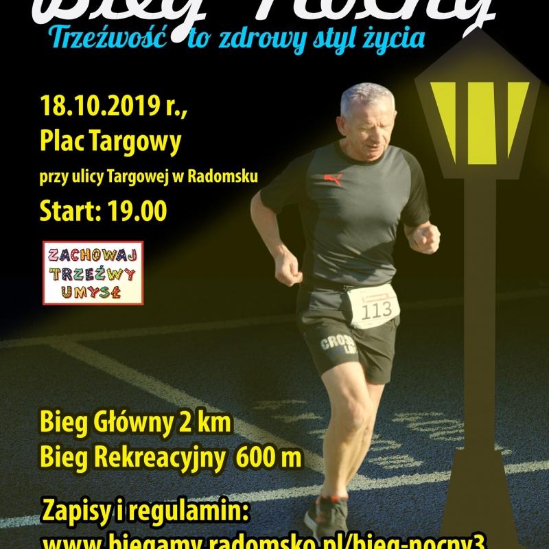 Zaproszenie na 3. Bieg Nocny w Radomsku
